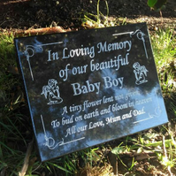 Personalised Grave Memorial Plaque Grave Marker Headstone