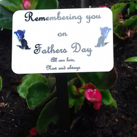 Personalised Fathers Day Memorial Plaque,Dad Grave Ornament