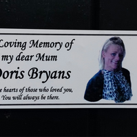 Personalised Memorial Bench Plaque with photo Memorial Tree Plaque