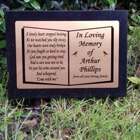 Black Granite Memorial Marker,Grave Stone,Granite Memorial Plaque Stone