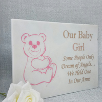 Engraved Memorial Grave Plaque Marble Grave Stone Baby Grave Plaque
