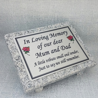 Personalised Grey Granite Memorial Marker Grave Plaque Memorial Grave Stone