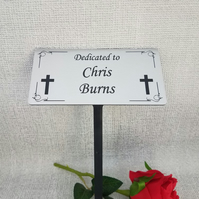 Grave cross memorial plaque Engraved Memorial Stake Grave tree Marker Cremation