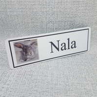 Personalised Rabbit Hutch Door Name Plaque Sign Any Text Any Photo Your Rabbit