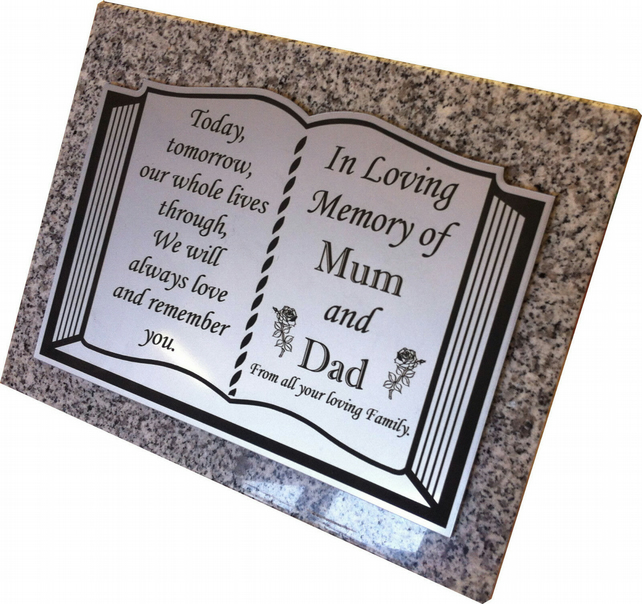 Personalised Granite Memorial Grave Plaque-Grave Marker-Grave Stone