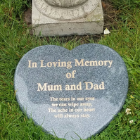 Heart Shaped Engraved Flat Memorial Grave Marker Cemetery Grave Plaque stone