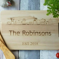 Personalised Chopping board Kitchen Gift New home gift Gift for couple wedding