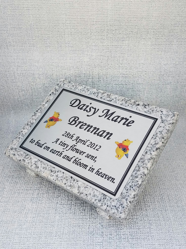 Baby Child infant Memorial Grave Marker Plaque stone Remembrance marker