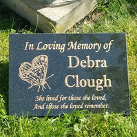 Granite Memorial Grave Plaque Headstone Engraved Memorial Plaque Cemetery stone