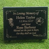 GRAVE PLAQUE MEMORIAL STONE GRAVESTONE MEMORIAL HEADSTONE CEMETERY GRAVE PLAQUE
