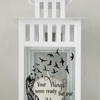 Memorial photo Lantern,Remembrance Gift,Memory Candle,Memorial Keepsake,