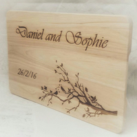 Personalised chopping board Anniversary Gift Custom Cutting board Weddings Gift