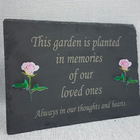 memorial garden plaque Memorial Garden Stone Plaque Grave Marker Ornament