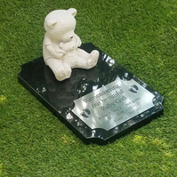 Granite memorial marker Grave plaque Cemetery marker infant child memorial stone