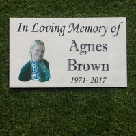 Personalised Granite Memorial Grave memorial Plaque Cemetery Remembrance Marker