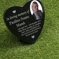 Engraved Black Granite Cemetery Marker Memorial Grave Plaque Headstone