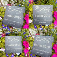 CUSTOM ORDER PET MEMORIAL PLAQUES X3