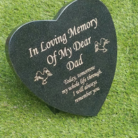 Memorial Grave Marker Granite Memorial Plaque Grave stone Heart Headstone