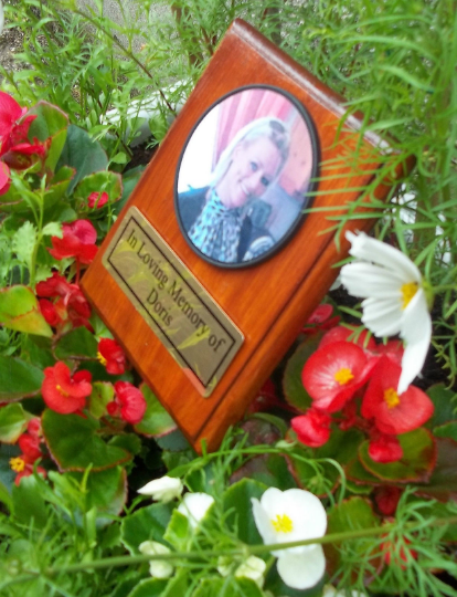 Solid Wooden Memorial Plaque Personalised Photo Cemetery plaque Tree dedication