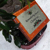 Christmas Solid Wooden Memorial Stake Grave Christmas remembrance Memorial