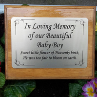 Solid Wooden Memorial Stake Grave Cremation Tree Marker Memorial Ornament