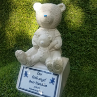 Baby Infant Teddybear Memorial marker Infant Gravestone Baby Grave   Headstone