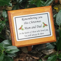 Christmas Memorial Grave memorial Plaque Cemetery Tree Remembrance Grave Plaque