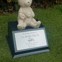 Grave Memorial Plaque Teddybear Baby Infant Memorial Cemetery Plaque Headstone