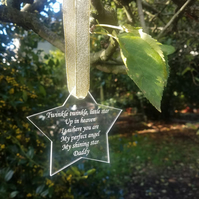 Memorial Graveside Star Plaque Memorial Tree plaque Cemetery Grave Plaque