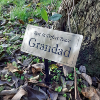 Personalised Gold Memorial Plaque Stake  Outdoor Garden Waterproof Memorial tree
