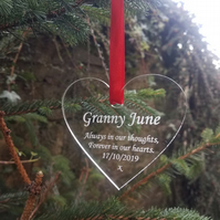 Christmas Memorial Bauble  Remembrance Bauble Grave Ornament Grave Decoration
