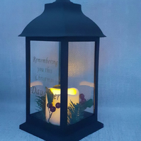 Christmas LED Lantern Grave Light,Christmas Grave Decoration Grave Ornament