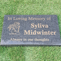 Granite Grave Marker Engraved Granite Memorial Plaque Flat Grave Cemetery Stone