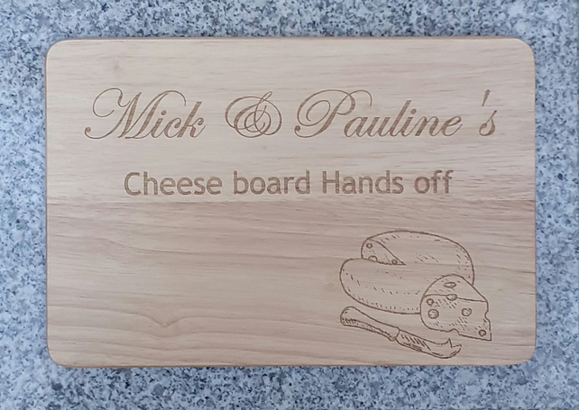 Personalised Wooden Cheese Board Chopping Board New home Gift Birthday Gift