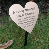 Custom Memorial Stake Grave Marker Tree Dedication Marker remembrance Plaque