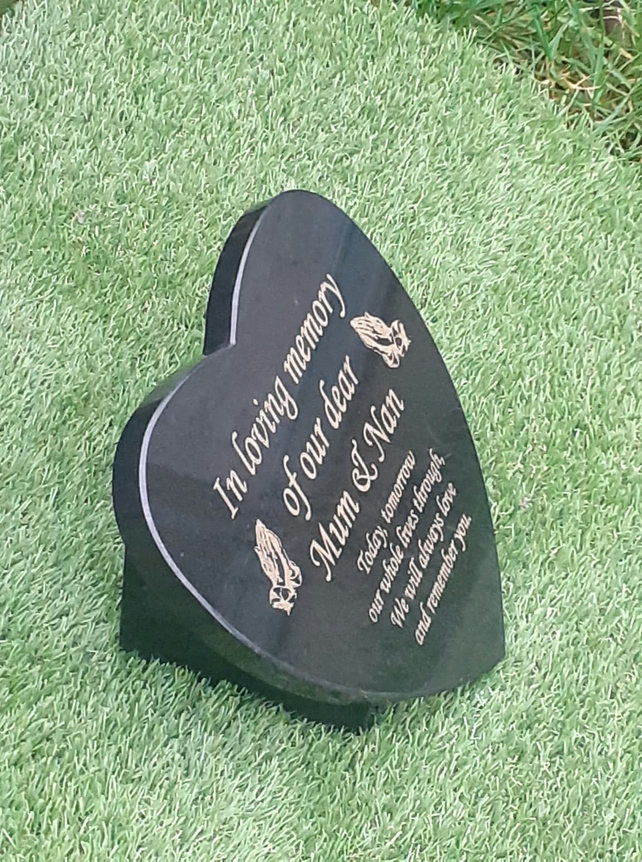 Grave Memorial Plaque Heart Grave Marker Cemetery Grave Plaque Memorial stone