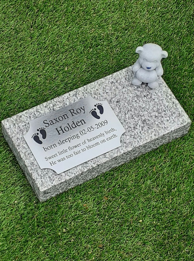 Flat Granite Grave Marker Baby Markers Baby Infant Child Grave Plaque  Headstone