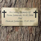 MEMORIAL BENCH TREE DEDICATION PLAQUE ENGRAVED NON RUST NON FADE MEMORIAL PLAQUE