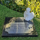 Bespoke Baby Granite Memorial Grave Marker Cemetery Plaque Stone Boy Girl