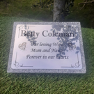 Personalised Granite Memorial Plaque Grave Marker Remembrance Plaque Headstone