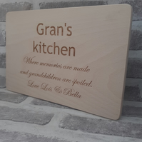 Personalised Wooden Cheese or Chopping Board, mothers day gift Gift for gran