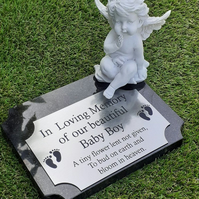 Baby Grave memorial Plaque Cemetery Grave Ornament Remembrance cemetery Marker