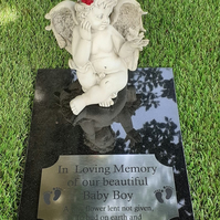 Granite memorial baby stone FLAT  Grave Marker Baby Cemetery Stone INFANT