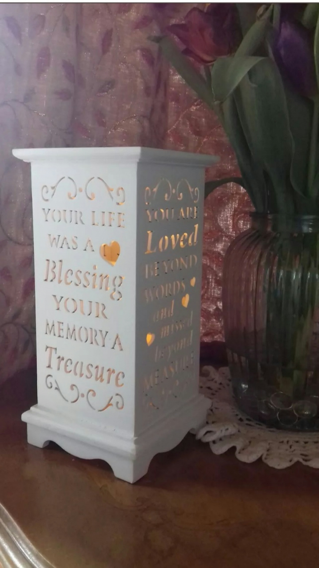 Memorial lantern memorial keepsake LED remembrance lantern memory keepsake