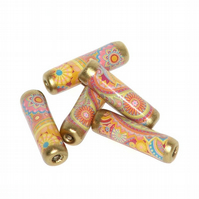 Paper Beads - Paisley Pastel