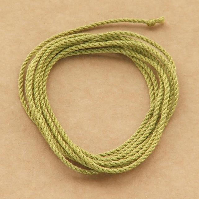 Silk cord - Apple Green, 1 metre