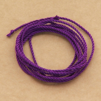Silk cord - Purple, 1 metre
