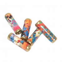 Autumn Leaves paper beads