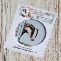 Badger pocket mirror - 58mm (2.25 inches) round