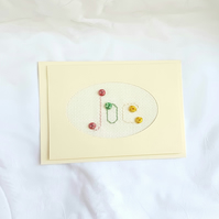 Joe is the Name - embroidered card